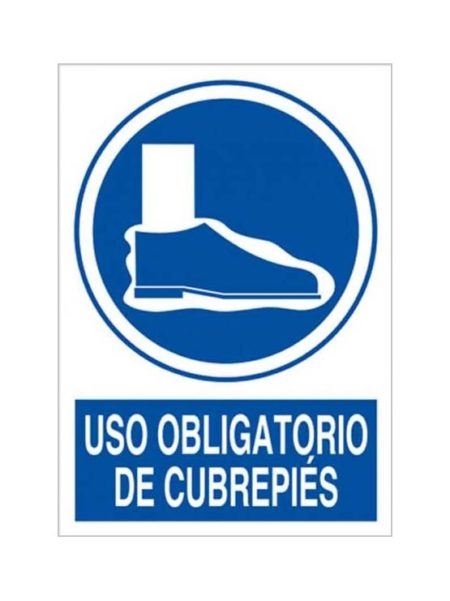 Cartel uso obligatorio de cubrepies