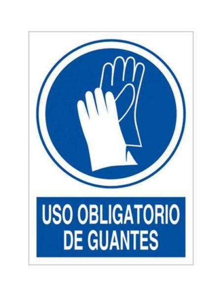Cartel uso obligatorio de guantes