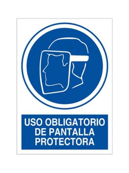 Cartel uso obligatorio de pantalla protectora
