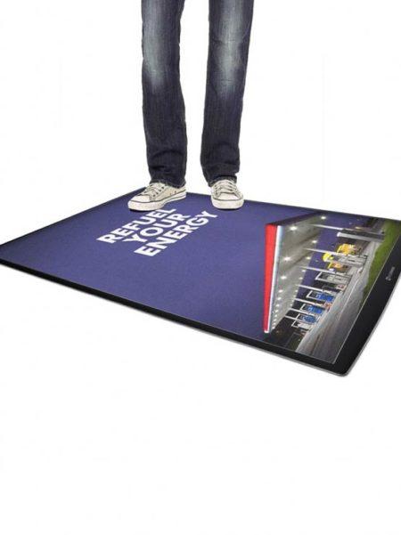 Porta póster suelo antideslizante Ultrafino