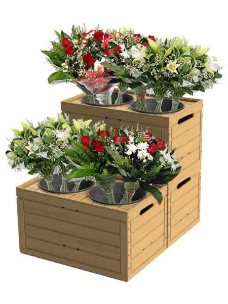 Expositor para flores