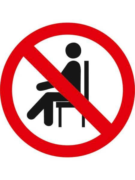 Adhesivo prohibido sentarse