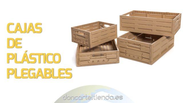 Cajas plegables de plástico apilables