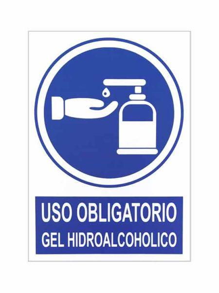 Uso obligatorio gel hidroalcohólico