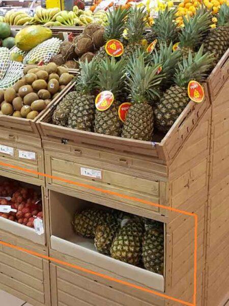 Cajón para expositor de frutería (4 unidades)